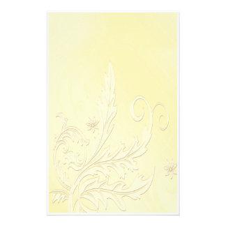 Papeterie Or élégant floral