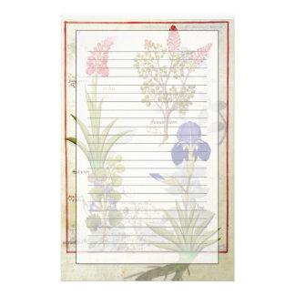 Papeterie Orchidée et Fumitory ou Hedera et iris de