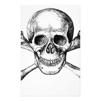 Papeterie Os de crâne et de croix