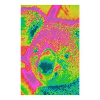 Papeterie ours de koala fluorescents