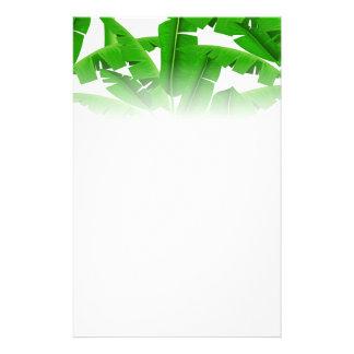 Papeterie Palmiers tropicaux verts