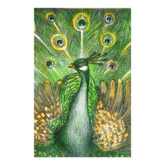 Papeterie Paon vert