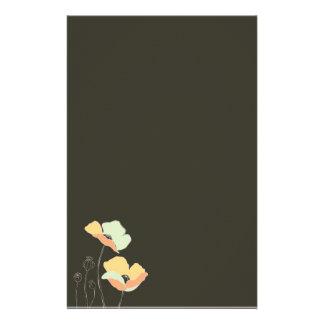 Papeterie Papeterie/en-tête de lettre mous de ~ de fleurs