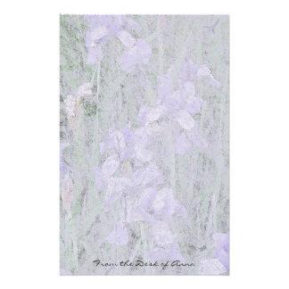 Papeterie Papier fait main de Faux : L'iris fleurit floral