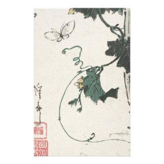 Papeterie Papillon et courge par Keisai Eisen
