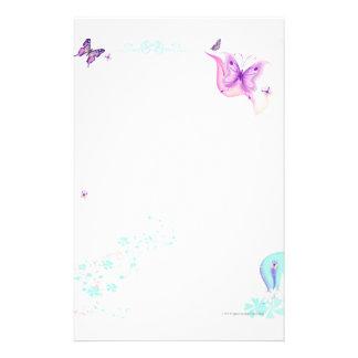 Papeterie Papillon rose stationnaire