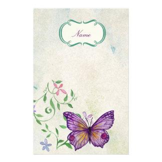 Papeterie Papillon vintage floral