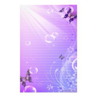 Papeterie Papillons et bulles stationnaires