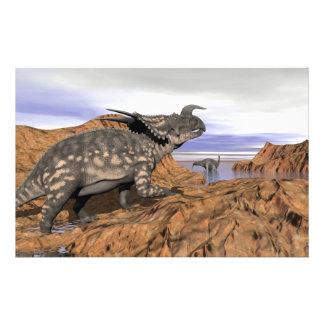 Papeterie Paysage de dinosaures - 3D rendent