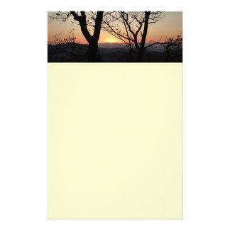 Papeterie Paysage de parc national de coucher du soleil de