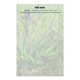Papeterie Peinture à l'huile florale vintage, iris par Van