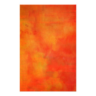 Papeterie Peinture abstraite moderne dans l'orange