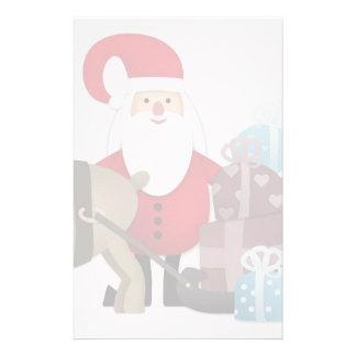 Papeterie Père Noël et son renne avec des cadeaux