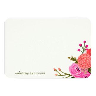 Papeterie personnalisée par jardin vintage carton d'invitation 8,89 cm x 12,70 cm