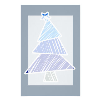 Papeterie peu précise bleue d'arbre de Noël
