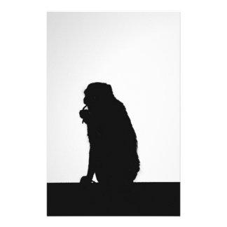 Papeterie Photo flossing de silhouette de singe