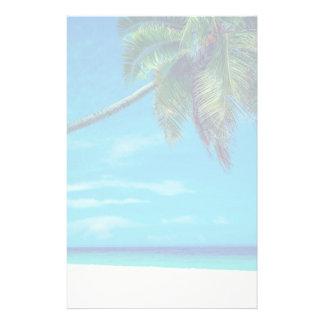 Papeterie Plage blanche de Sandy avec le palmier tropical