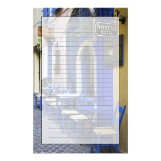 Papeterie Porte et voie de garage bleues colorées au vieil