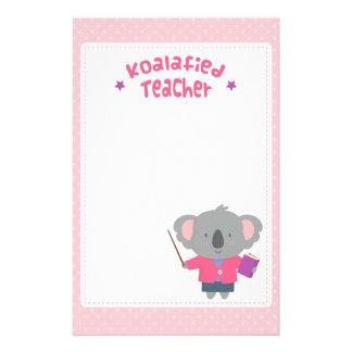 Papeterie Professeur humoristique d'ours de koala de