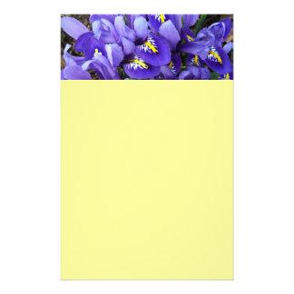 Papeterie Ressort bleu miniature d'iris floral