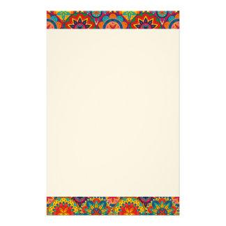 Papeterie Rétro motif coloré génial de mandala