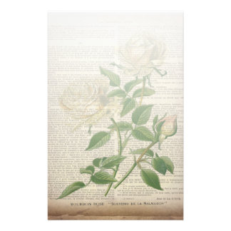 Papeterie rose blanc botanique de pays français de