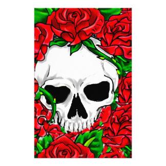 Papeterie Roses rouges et crâne