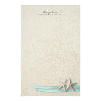 Papeterie Ruban d'étoiles de mer et d'Aqua