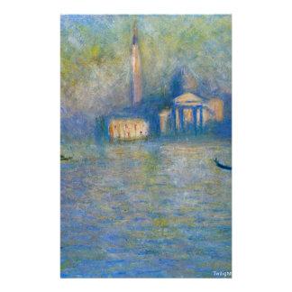 Papeterie San Giorgio Maggiore, crépuscule par Claude Monet