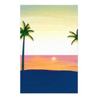Papeterie Scène de plage de coucher du soleil