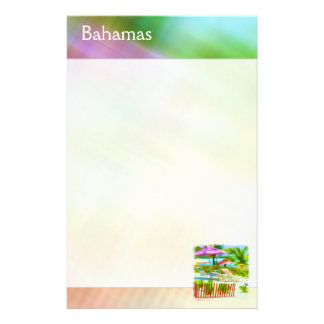 Papeterie Scène Painterly de plage de vacances d'été des