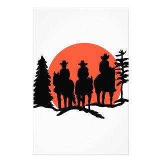 Papeterie Silhouette de cavaliers