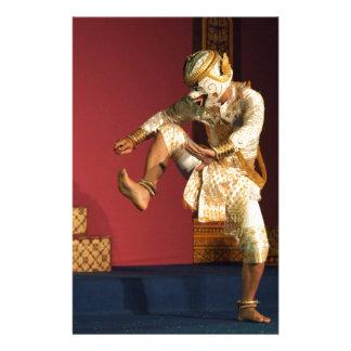 Papeterie singe de danseur d'aspara. Le Cambodge