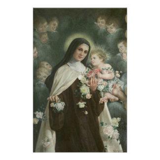 Papeterie St Therese les petits anges de roses de fleur