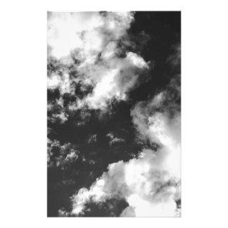 Papeterie Temps nuageux noir et blanc