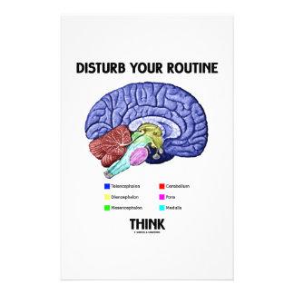 Papeterie Touchez à votre routine pensent (l'anatomie de