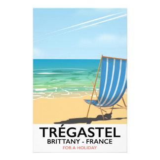 Papeterie Trégastel, affiche de vacances de plage de la