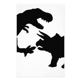 Papeterie Tyrannosaure et Triceratops b