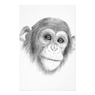 Papeterie Un chimpanzé, pas monkeying autour le croquis