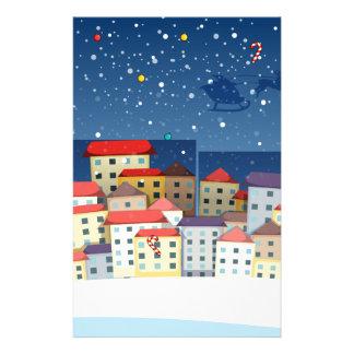 Papeterie Un village avec des arbres de Noël
