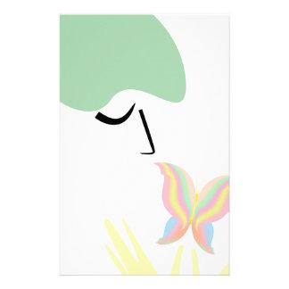 Papeterie Une fille et un papillon