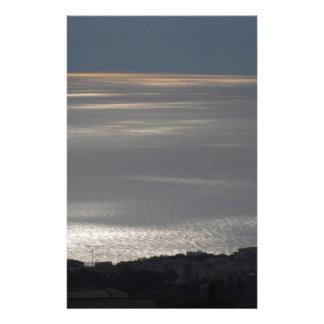 Papeterie Une mer nuageuse et un coucher de soleil