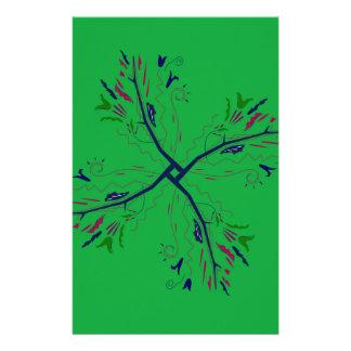 Papeterie Vert de luxe d'art de mandala