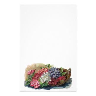 Papeterie vintage colorée de verveines