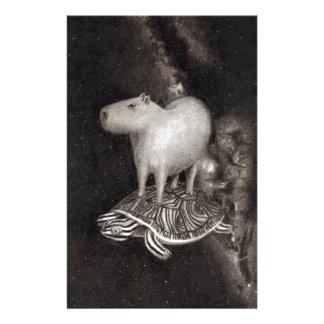 Papeterie Vol de Capybara et de terrapin par le dessin de