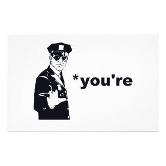 Papeterie Vous êtes votre police de grammaire