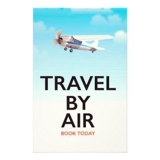 Papeterie Voyage par l'affiche de transports aériens