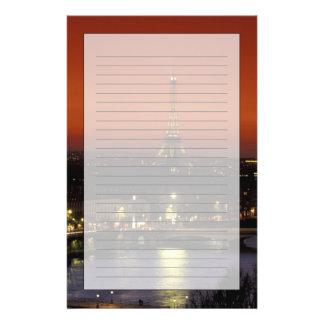 Papeterie Vue de coucher du soleil de la France, Paris de