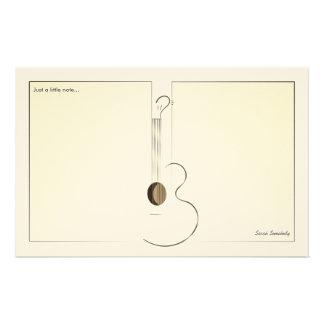 Papier à lettres de conception de logo de guitare papier à lettre customisé