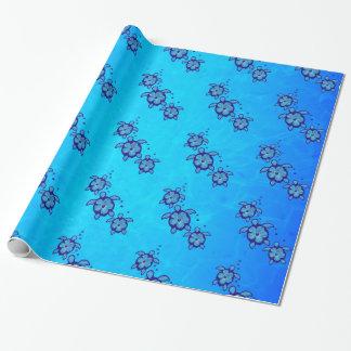 Papier Cadeau 3 tortues bleues de Honu